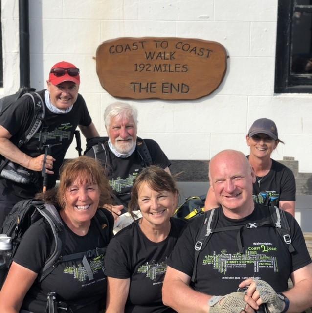 david mort coast to coast walk for charity