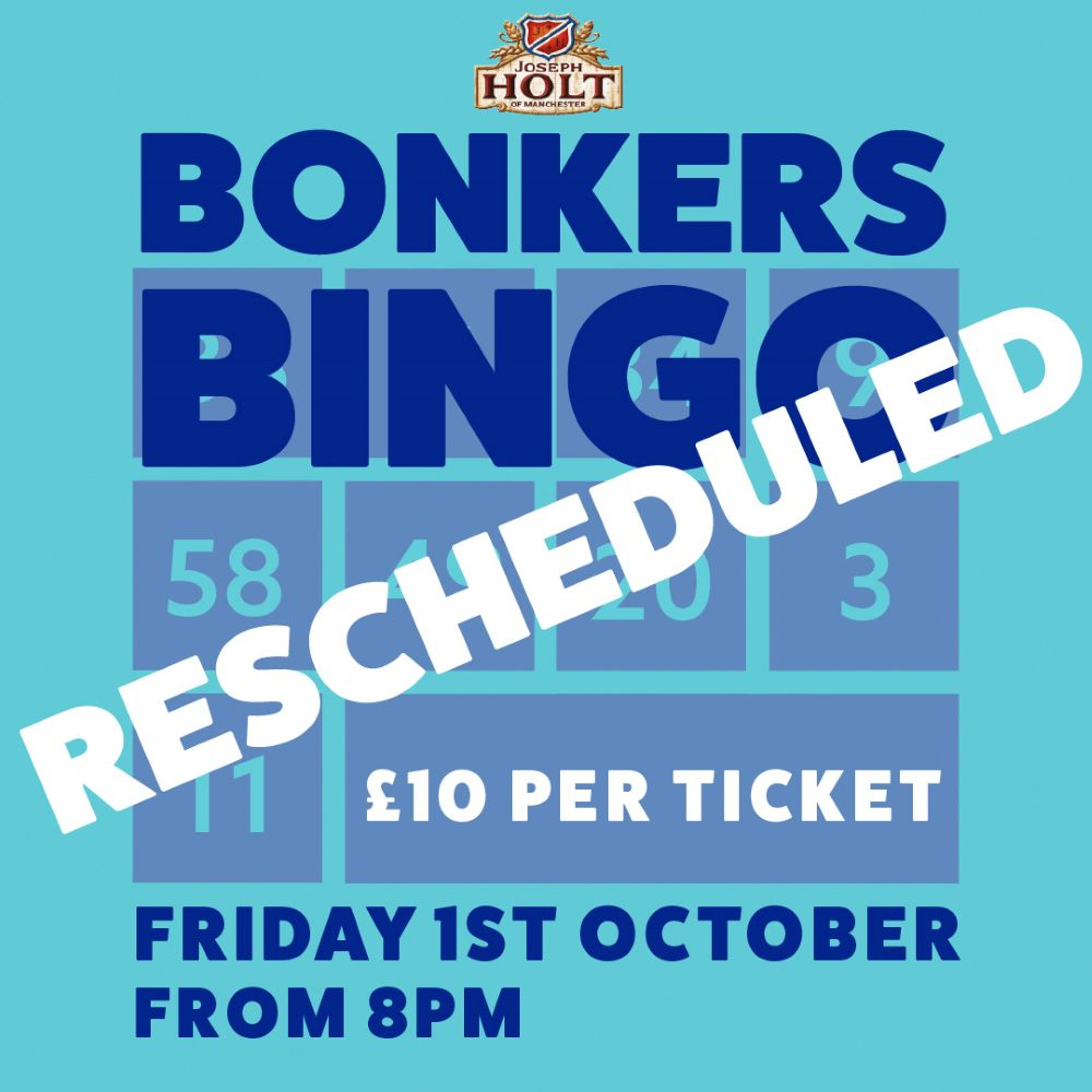 Millhouse Bonkers Bingo rescheduled