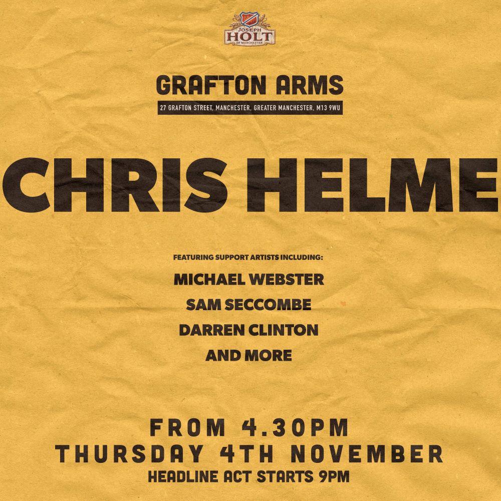Grafton Gig Poster Chris Helme