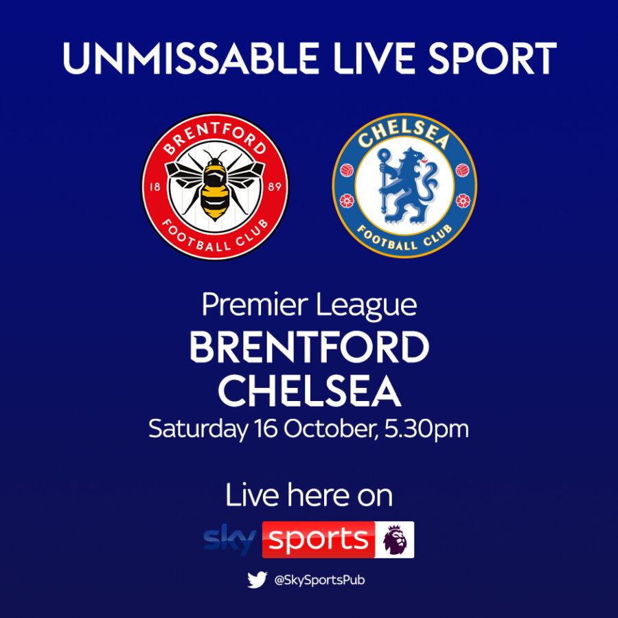 Premier League, Brentford v Chelsea 16 oct