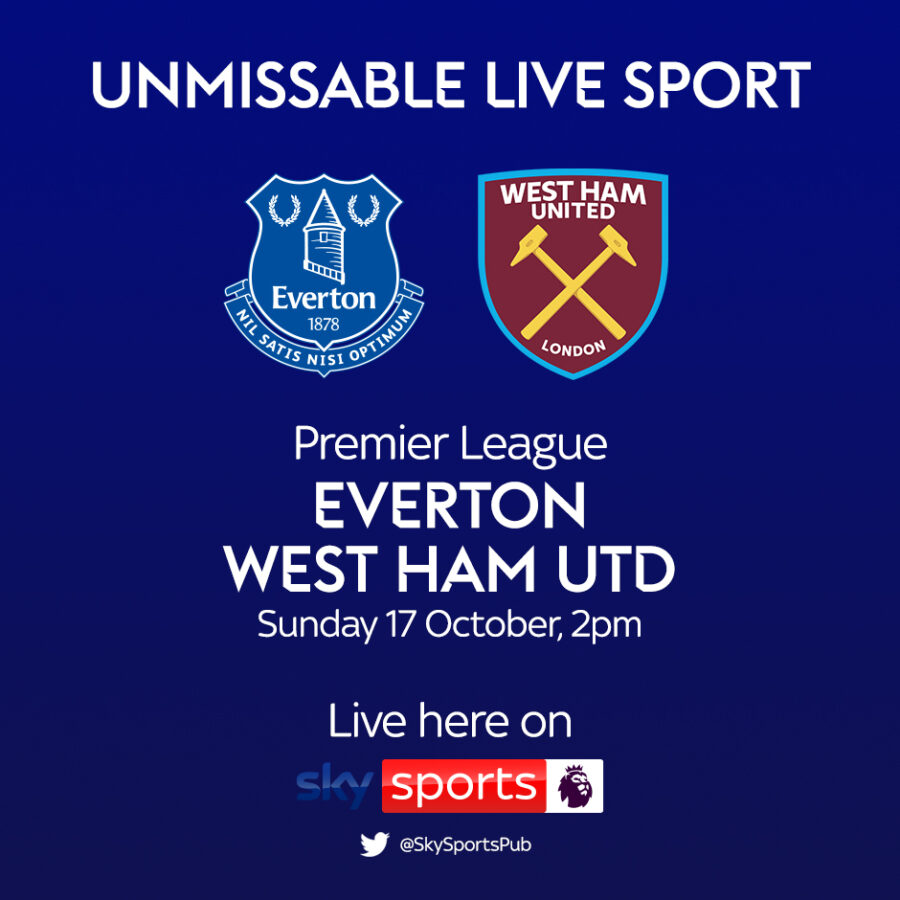 Premier League, Everton v West Ham Utd 17 Oct