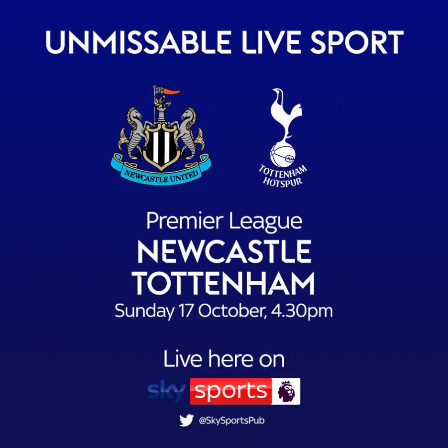 Premier League, Newcastle v Tottenham 17 Oct